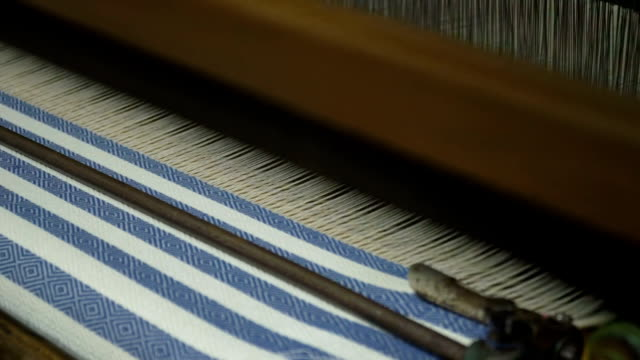 weaving machine. loom in store - loom stock videos & royalty-free footage