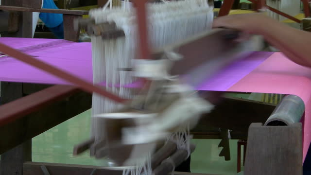 weaving on loom - woven stock videos & royalty-free footage