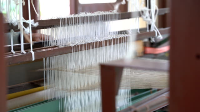 weaving silk in traditional - loom stock videos & royalty-free footage