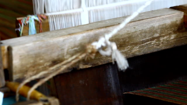 weaving, thailand - needle plant part stock videos & royalty-free footage