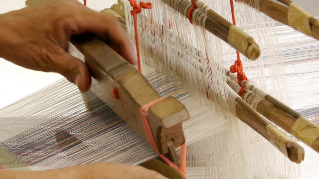 weaving with the loom - loom stock videos & royalty-free footage