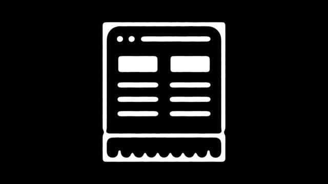 web ブラウザー手描きのアルファを持つライン アニメーション - 記事点の映像素材/bロール
