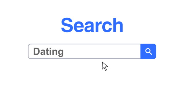 web browser or web page with a search box typing dating for internet searching - search box stock videos & royalty-free footage