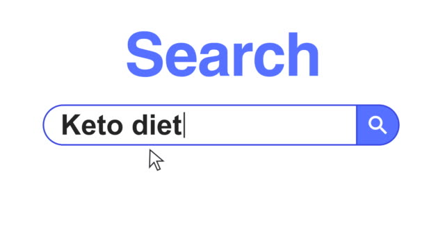web browser or web page with a search box typing keto diet for internet searching - obesity icon stock videos & royalty-free footage