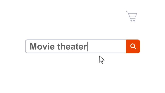 web browser or web page with a search box typing movie theater for internet searching - search box stock videos & royalty-free footage