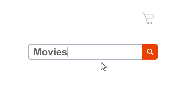 web browser or web page with a search box typing movies for internet searching - search box stock videos & royalty-free footage