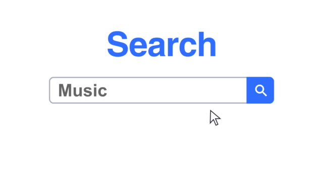 web browser or web page with a search box typing music for internet searching - web browser stock videos & royalty-free footage