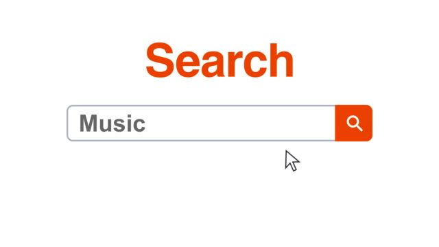 web browser or web page with a search box typing music for internet searching - search box stock videos & royalty-free footage