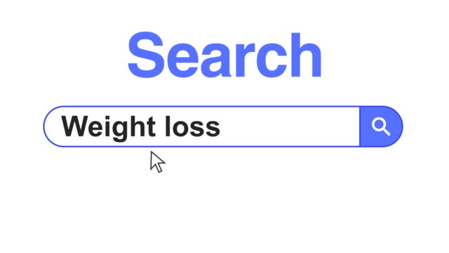 web browser or web page with a search box typing weight loss for internet searching - obesity icon stock videos & royalty-free footage