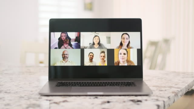 web chat meeting - web conference stock videos & royalty-free footage
