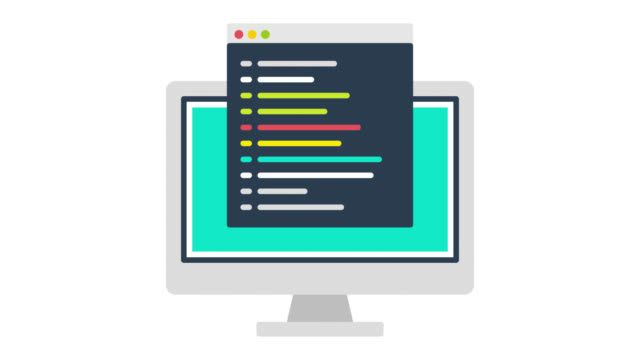 web development glitch effect icon animation with alpha - computer software stock videos & royalty-free footage