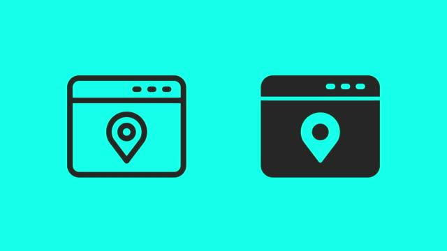 web ロケーション サービスアイコン - ベクター アニメーション - 方向標識点の映像素材/bロール