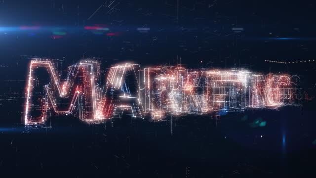 web marketing worte animation - zielgruppe stock-videos und b-roll-filmmaterial