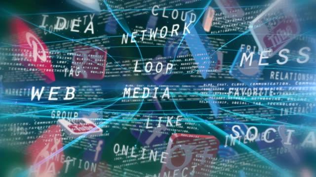 supporti web di parola - incontro mondano video stock e b–roll