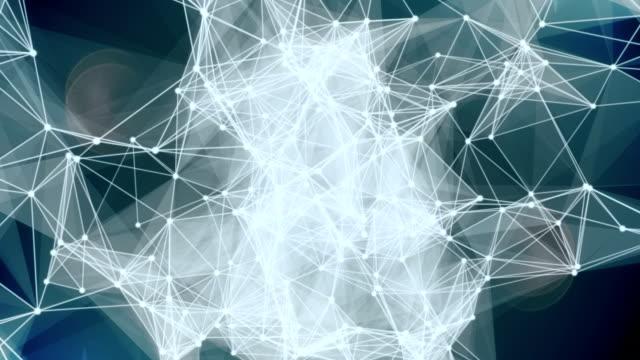 Web network video loop background