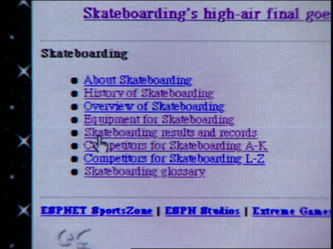 web page from 1995 - surfing the net stock videos & royalty-free footage