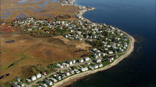 Webhannet River And Coast  - Aerial View - Maine,  York County,  United States