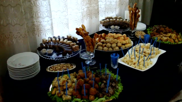 wedding appetizers - wedding reception stock videos and b-roll footage