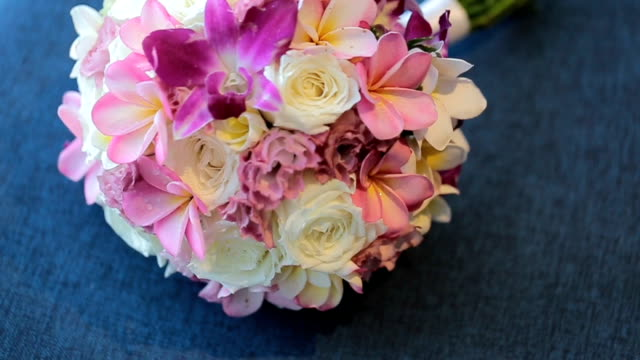wedding bouquet of fresh flowers. - bunch stock videos and b-roll footage