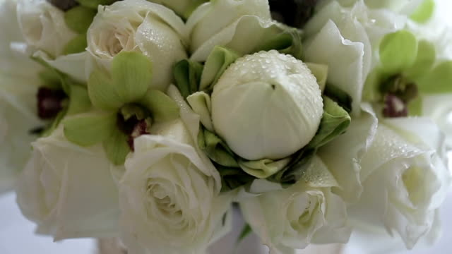 Wedding bouquet of fresh flowers.