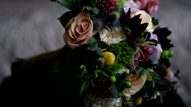 wedding bouquet - bunch of flowers stock videos and b-roll footage