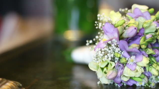 wedding bouquets - hd & pal - bouquet stock videos and b-roll footage