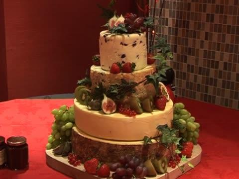Hochzeitstorte von Käse