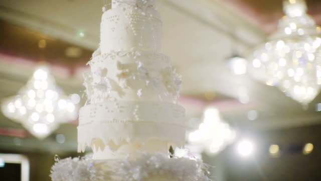 wedding cake - wedding reception stock videos and b-roll footage