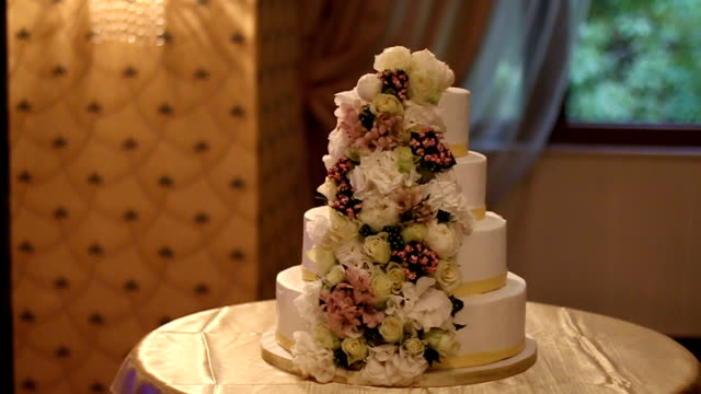wedding cake - ornate stock videos and b-roll footage