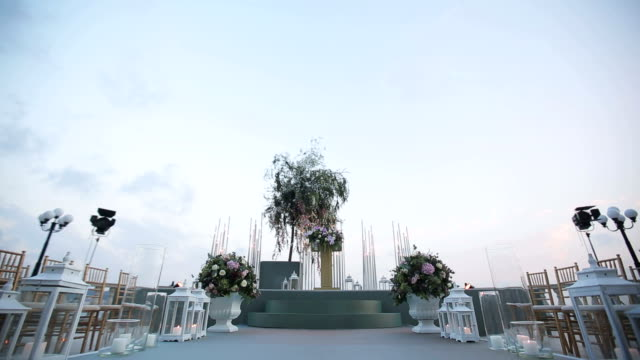wedding ceremony - arch architectural feature stock videos and b-roll footage
