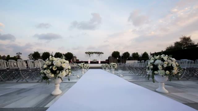 wedding ceremony - honeymoon stock videos & royalty-free footage
