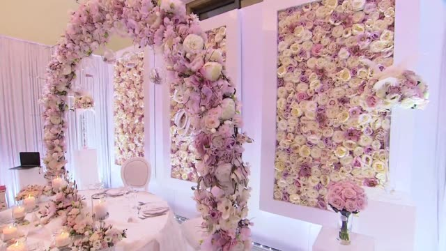 wedding decoration - bunch of flowers stock videos & royalty-free footage