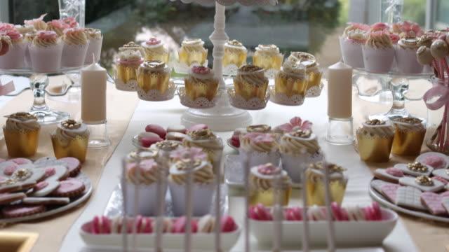 wedding decoration - macaroon stock videos & royalty-free footage
