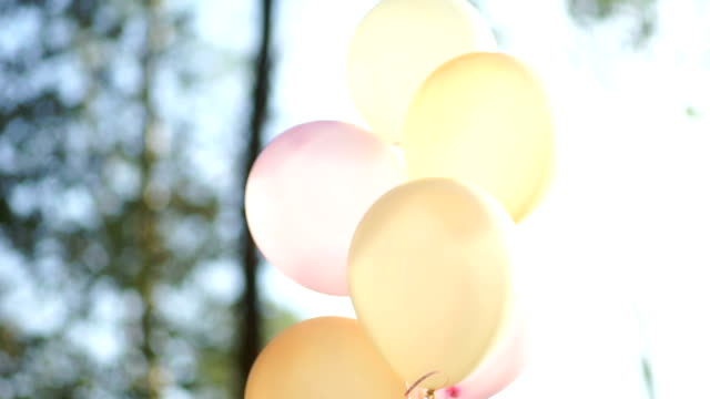 wedding decoration with balloons. - bouquet stock videos & royalty-free footage