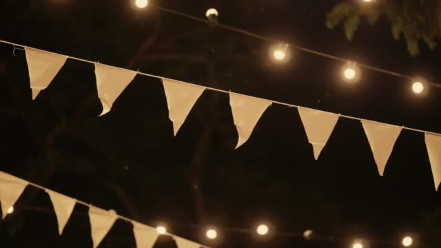 wedding dinner decor - evening meal stock videos & royalty-free footage