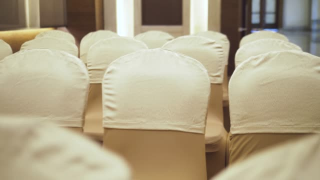 wedding dinner tables - chairs in a row stock videos & royalty-free footage