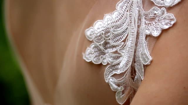 wedding dress detail - distillery still stock videos & royalty-free footage