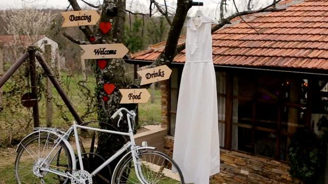 Wedding dress on the tree,wedding concept