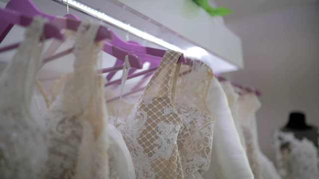 wedding dress show room - wedding dress stock videos and b-roll footage