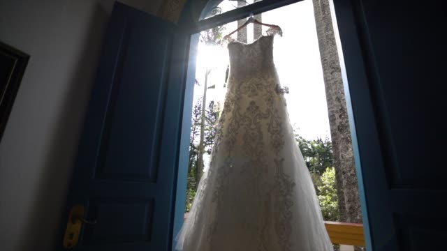 wedding dress - wedding stock videos & royalty-free footage