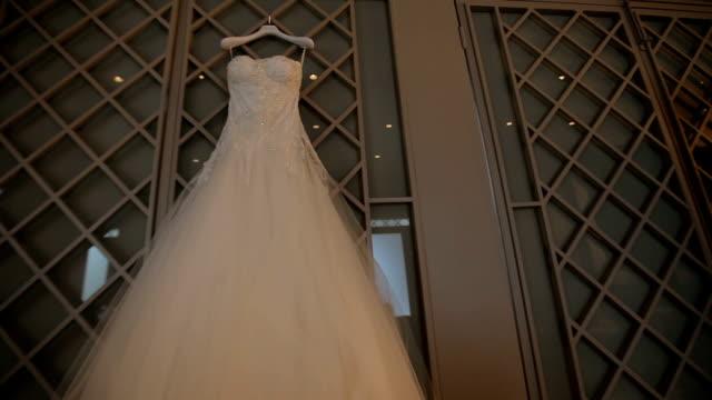 wedding dress - wedding dress stock videos and b-roll footage