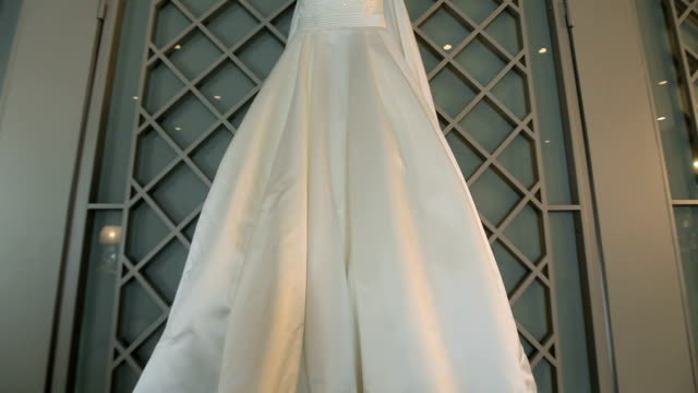 wedding dress - wedding dress stock videos and b-roll footage