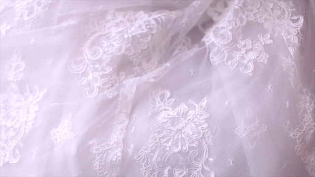 wedding dress - lace textile stock videos and b-roll footage