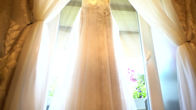 wedding dress - lace textile stock videos & royalty-free footage