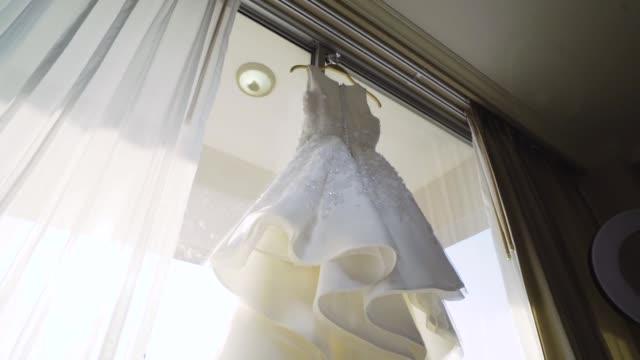 wedding dress - white dress stock videos & royalty-free footage