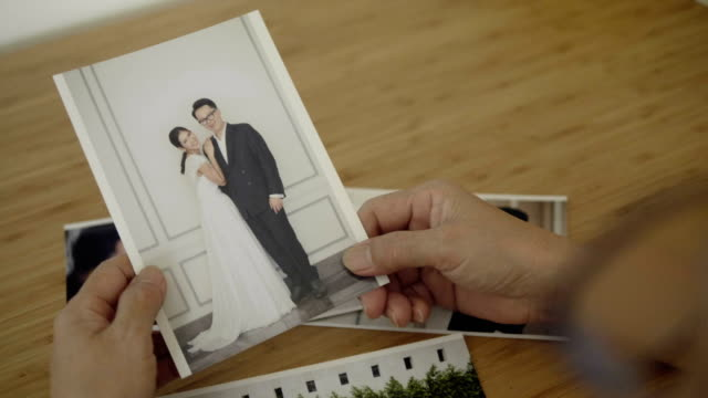 wedding, engagement, married  photo album - reminder stock videos and b-roll footage