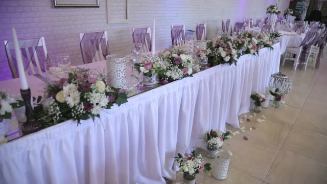 wedding floral decorations - beauty in nature stock videos & royalty-free footage