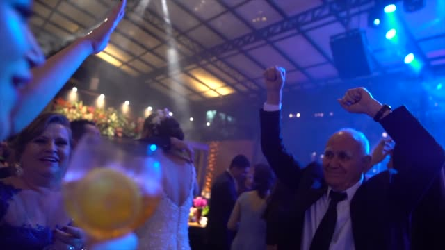 wedding guests dancing during party - guest stock videos & royalty-free footage