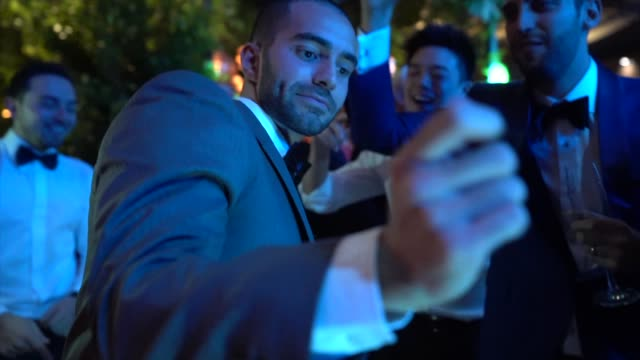 wedding guests dancing during party - wedding reception stock videos & royalty-free footage