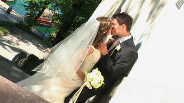 hd: wedding kiss - groom stock videos and b-roll footage